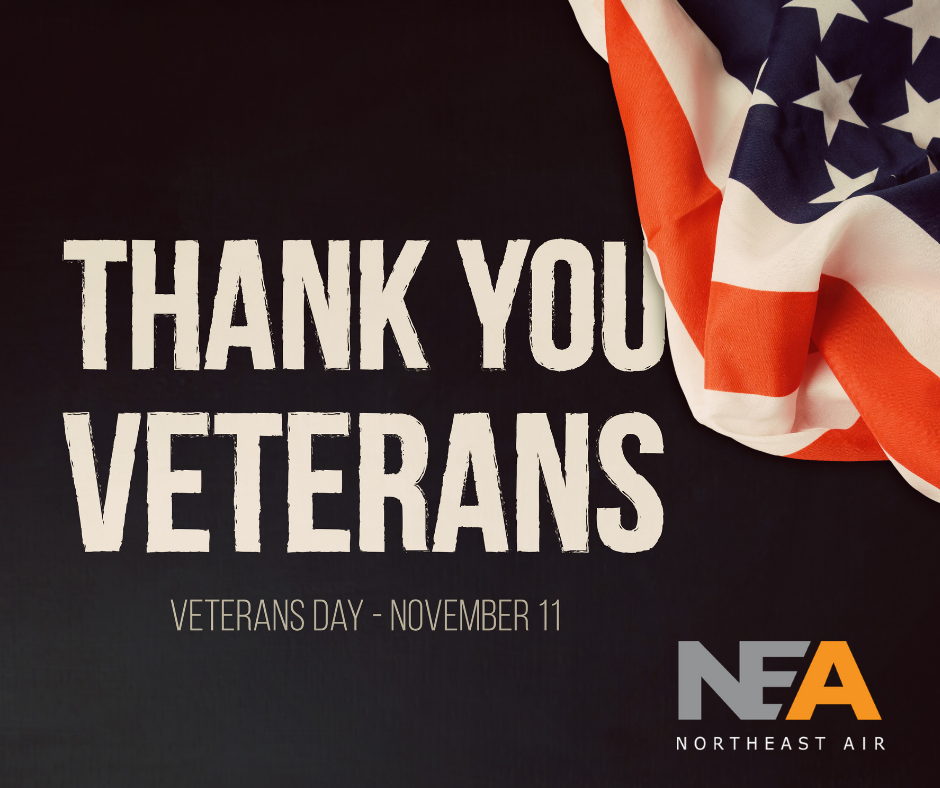 Thank you to the military veterans who work at Northeast Air